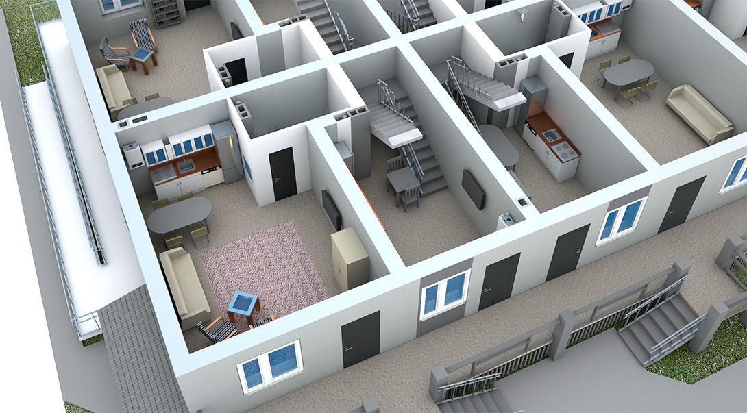 Проект первого этажа второй очереди в ЖК На Героев в Сиверском, Ленинградской области