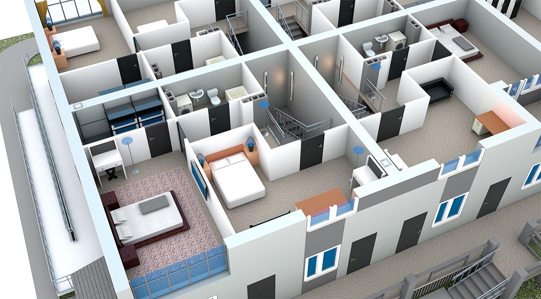 Проект второго этажа второй очереди в ЖК На Героев в Сиверском, Ленинградской области