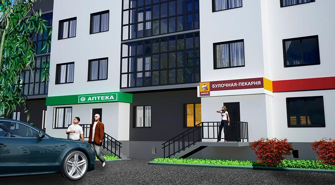Булочная в Жилом комплексе На Героев в Сиверском, Ленинградской области