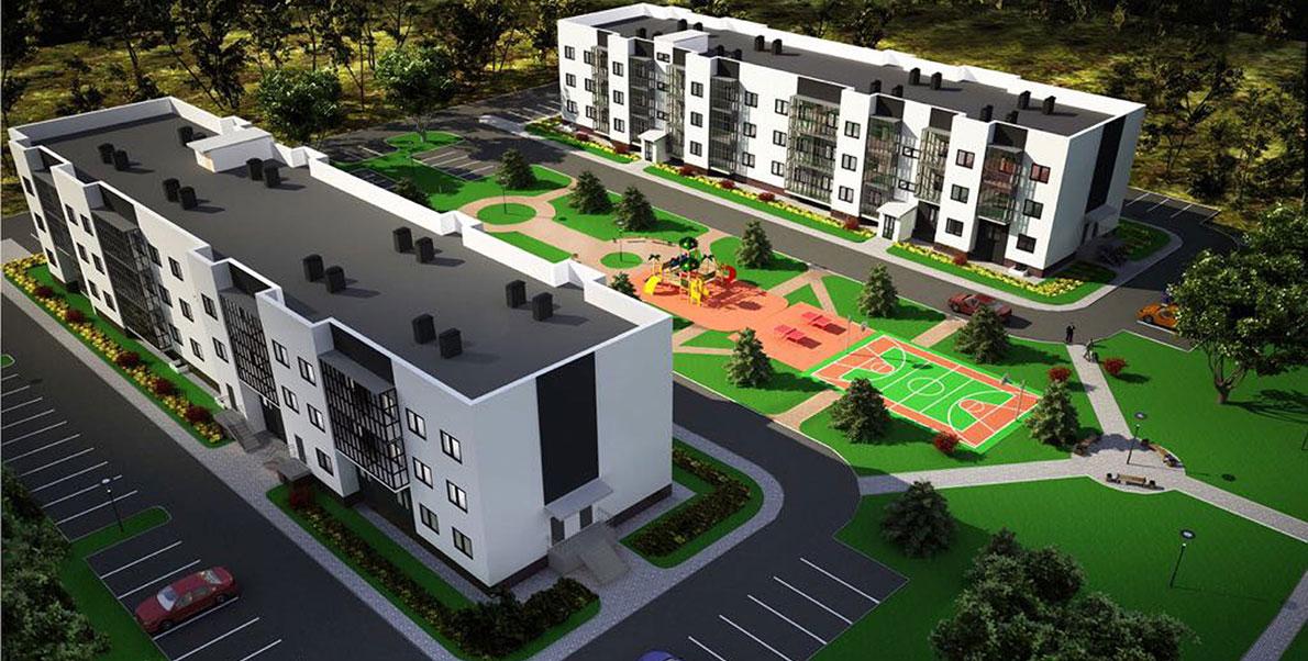 Новые квартиры в Жилом комплексе На Героев в Сиверском, Ленинградской области
